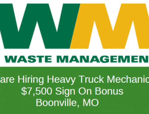 Waste Management in need of Heavy Truck Mechanics in Boonville, MO